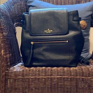 Black Kate spade backpack NWOT